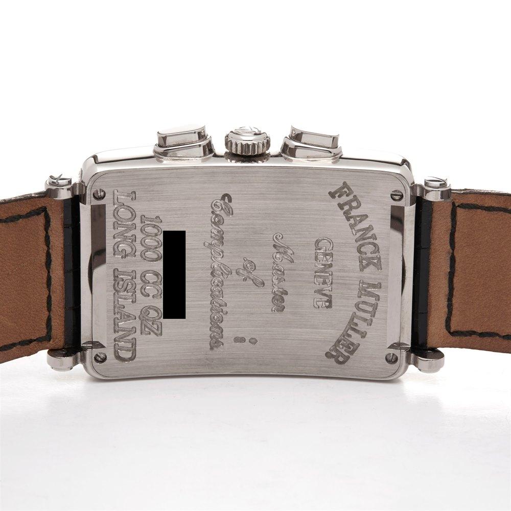 Franck Muller Long Island Chronograph 18K White Gold 1000 CC QZ