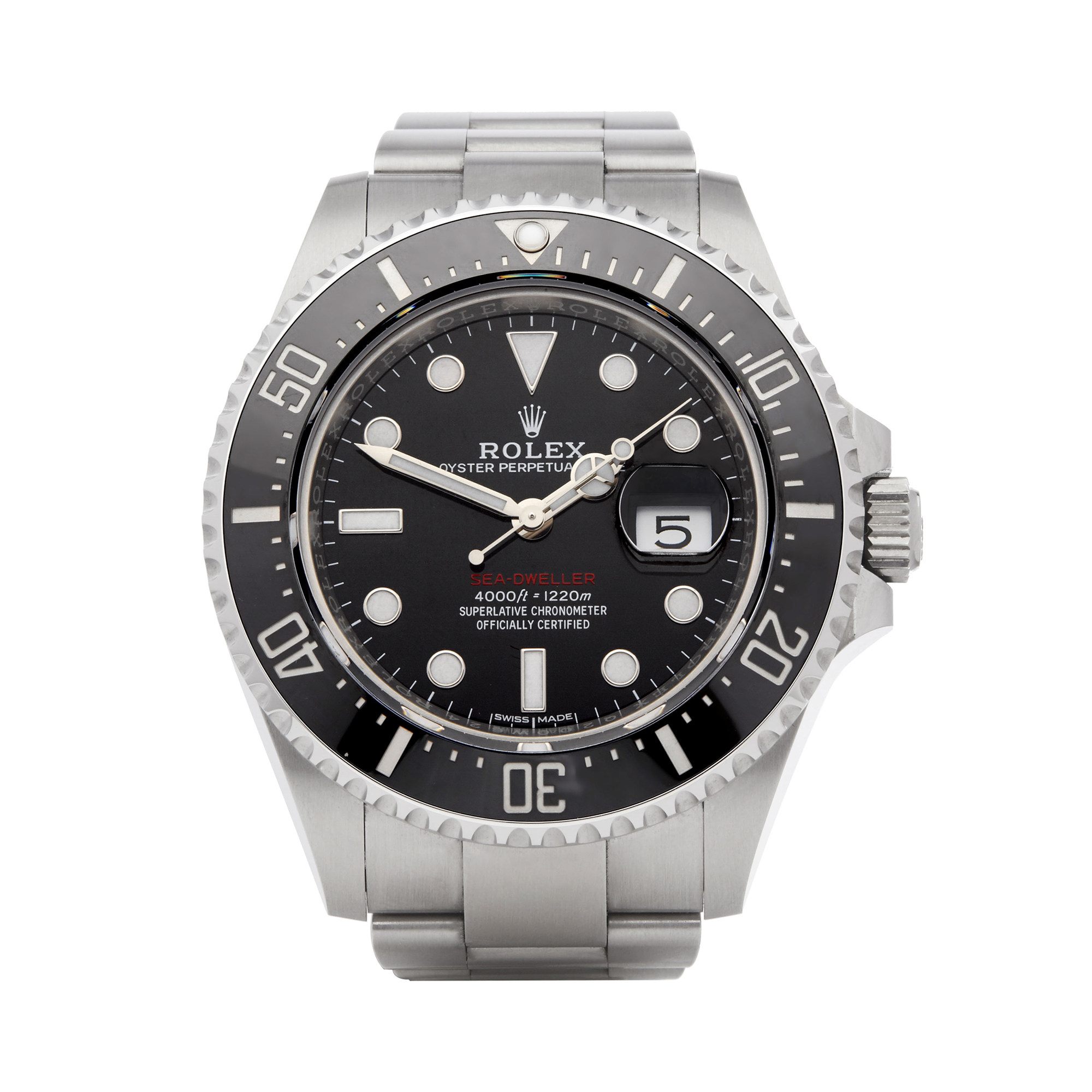 Details About Rolex 50th Anniversary Red Writing Sea Dweller Watch 126600 W6351