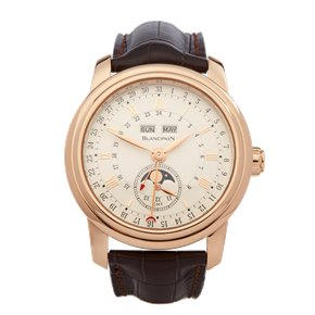 Blancpain Le Brassus Moonphase GMT 18K Rose Gold - 4276-3642A-55B