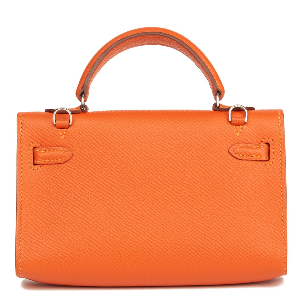 Hermès Orange H Epsom Leather Kelly Tiny