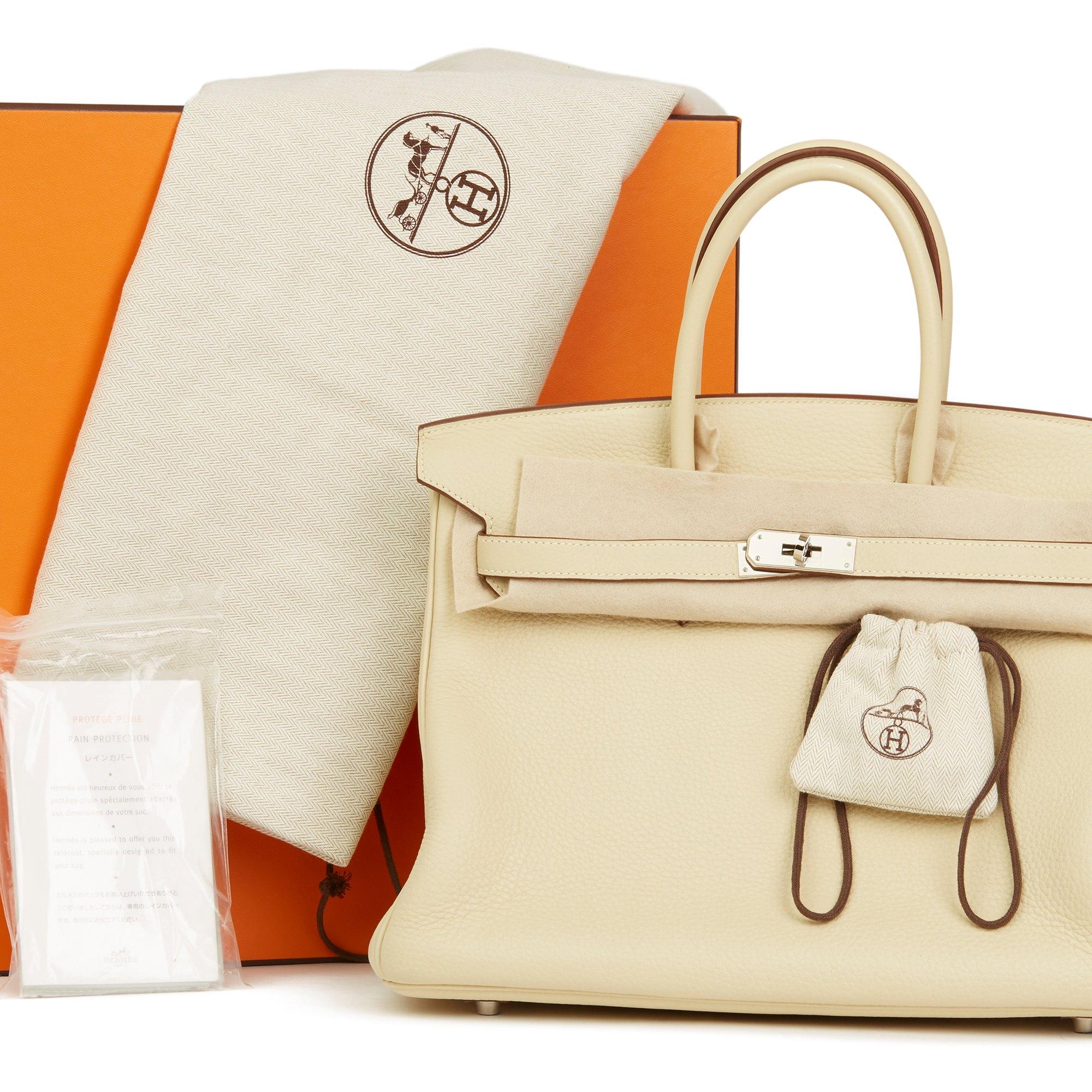 Hermès Parchemin Clemence Leather Birkin 35cm