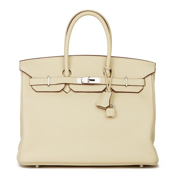 Hermès Parchemin Clemence Leather Birkin 35cm