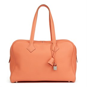 Hermès Crevette Clemence Leather Victoria II 35