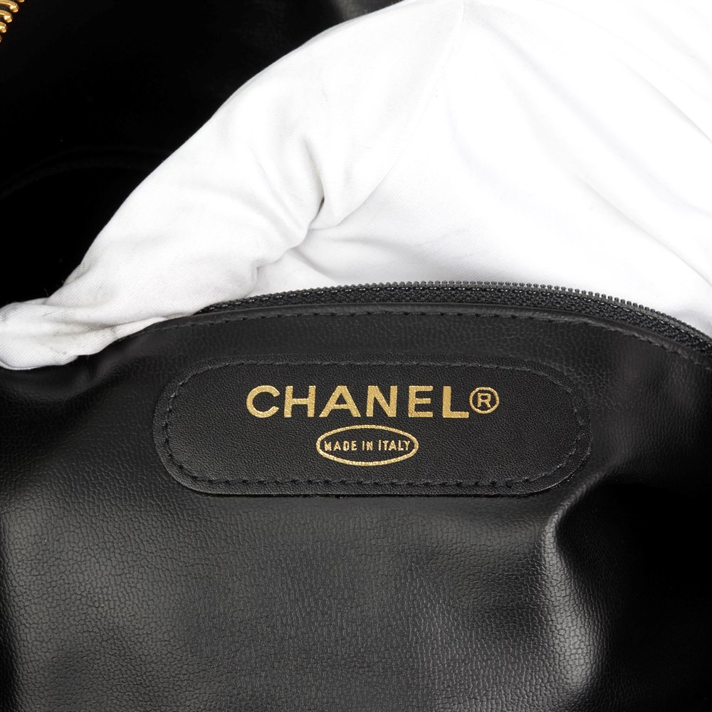 Chanel Black Quilted Lambskin Vintage Boston 45