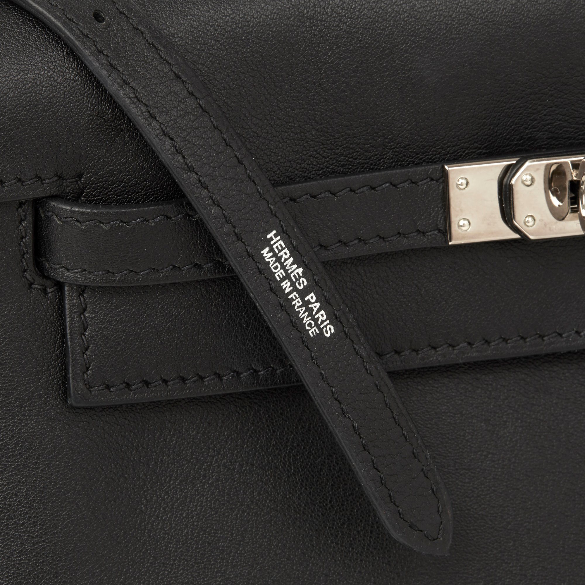 Hermès Black Swift Leather Kelly Danse
