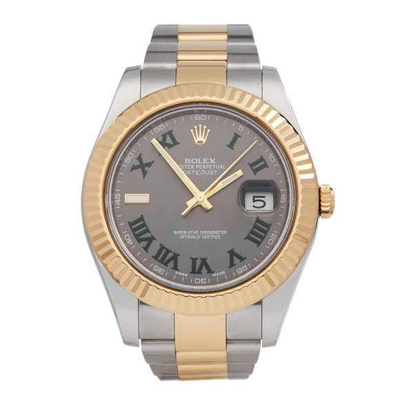 Rolex Datejust 41 Wimbledon Stainless Steel & Yellow Gold - 116333
