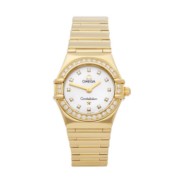 Omega Constellation Diamond Mother Of Pearl 18k Yellow Gold - 1164.75.00