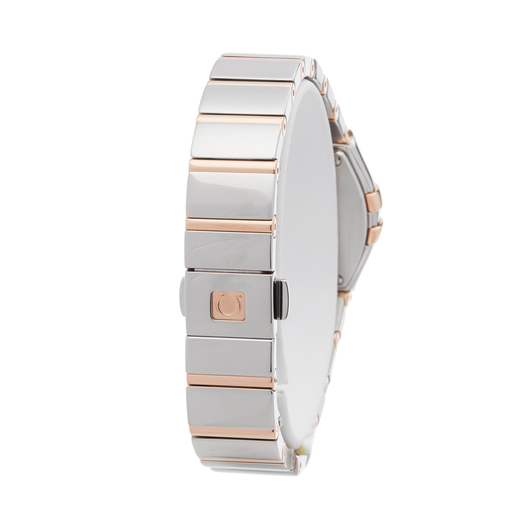 Omega Constellation Diamond Mother Of Pearl Stainless Steel & Rose Gold 123.25.24.60.55.005