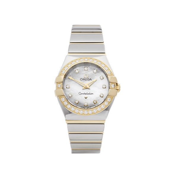 Omega Constellation Diamond Mother of Pearl Stainless Steel & Yellow Gold - 12325246055005