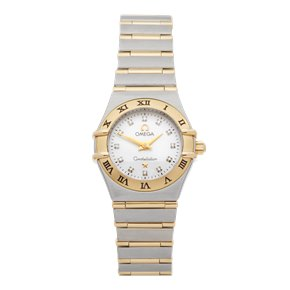 Omega Constellation Diamond Mother Of Pearl Stainless Steel & Yellow Gold - 1262.75.00