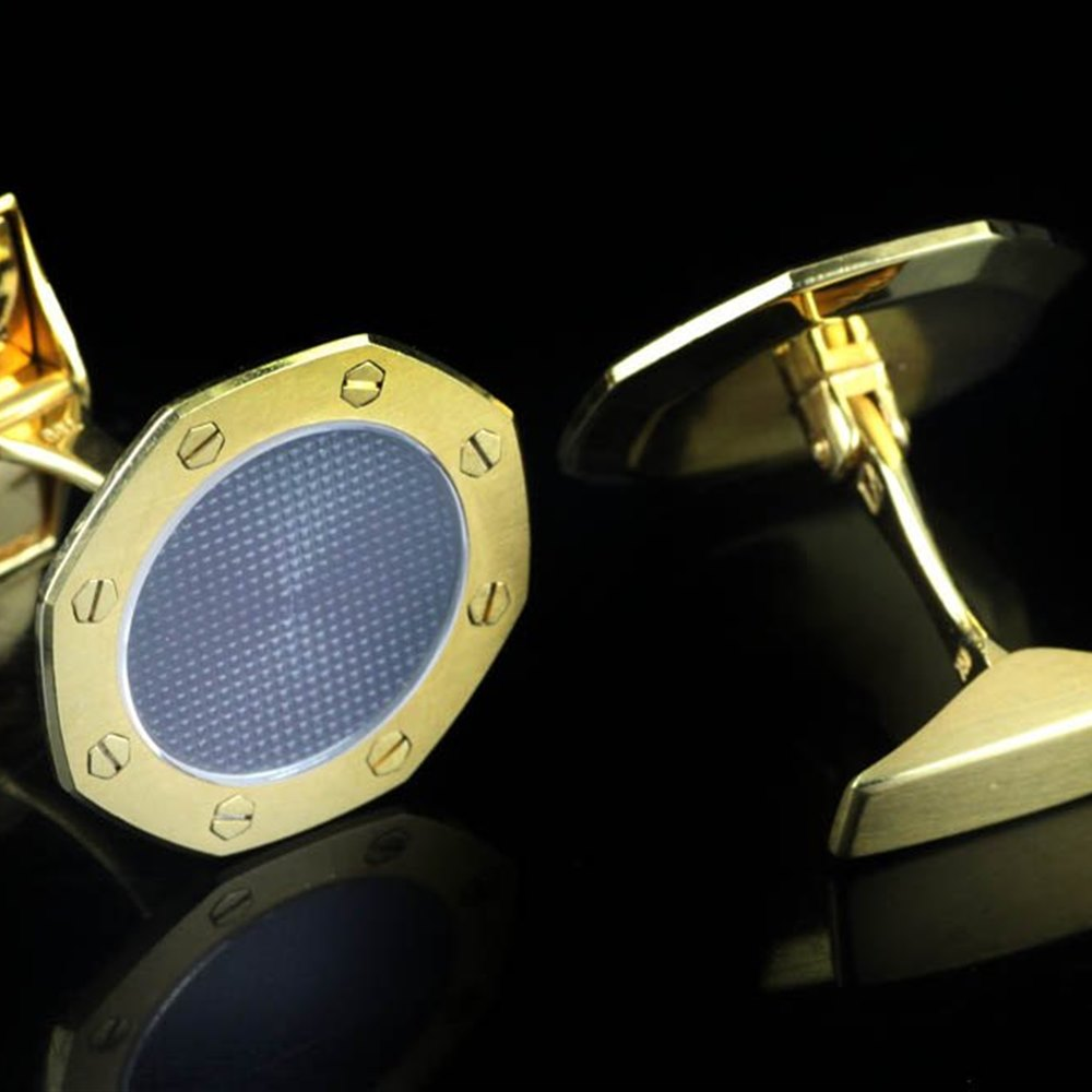 Audemars Piguet Royal Oak 18k Yellow Gold Cufflinks
