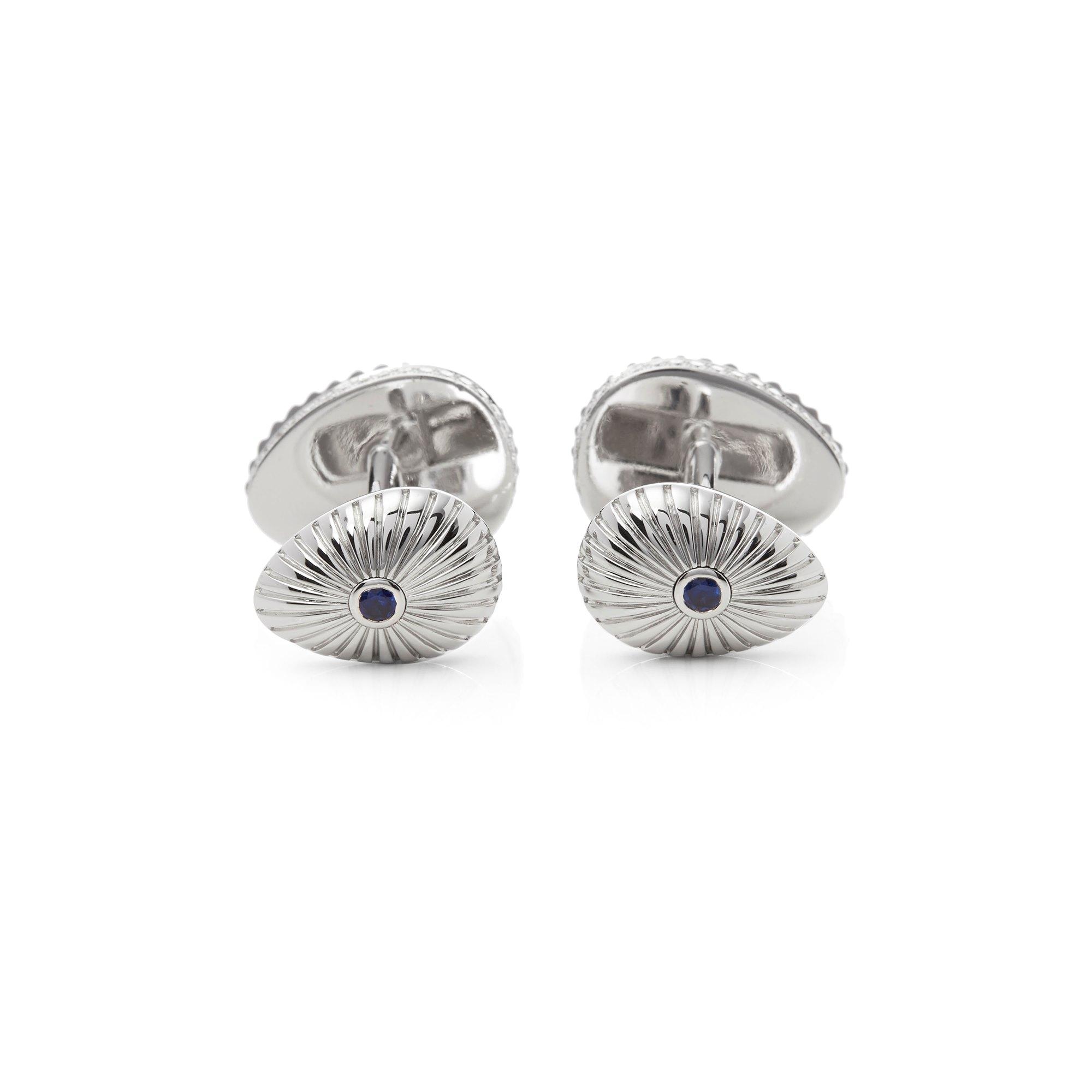 Fabergé 18k White Gold Sapphire & Diamond Grigori Cufflinks