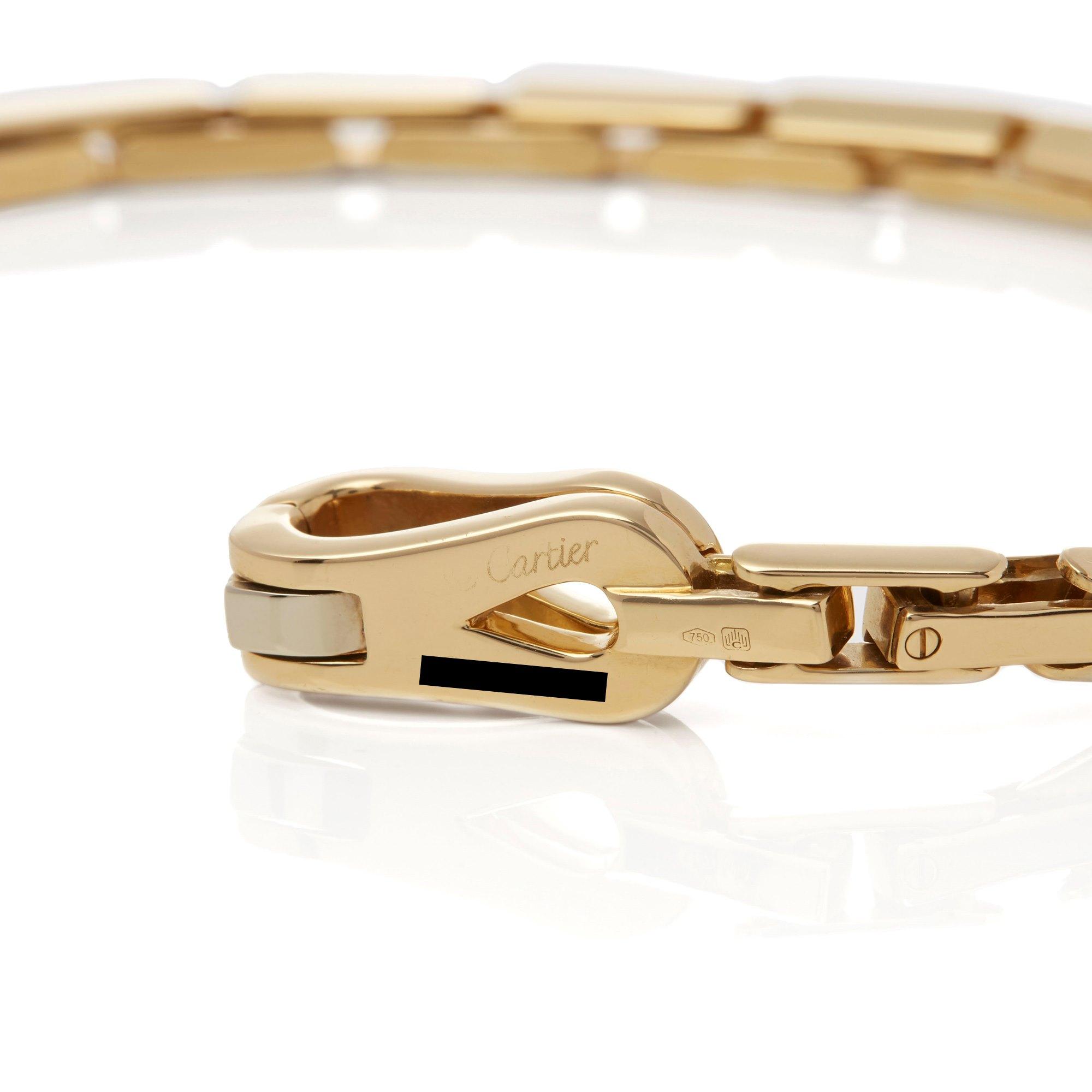 Cartier 18k Yellow Gold Agrafe Bracelet
