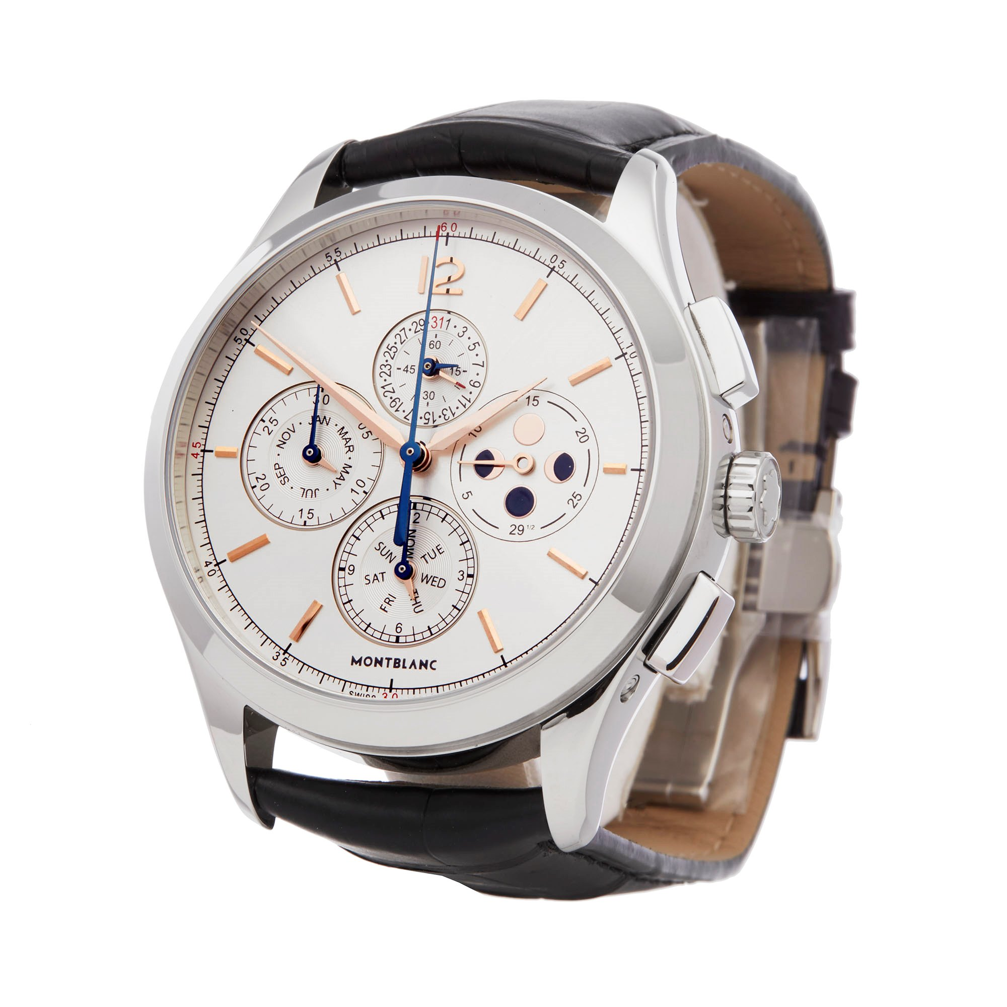 Montblanc Heritage Chonométrie Annual Calendar Chronograph Stainless Steel 114875