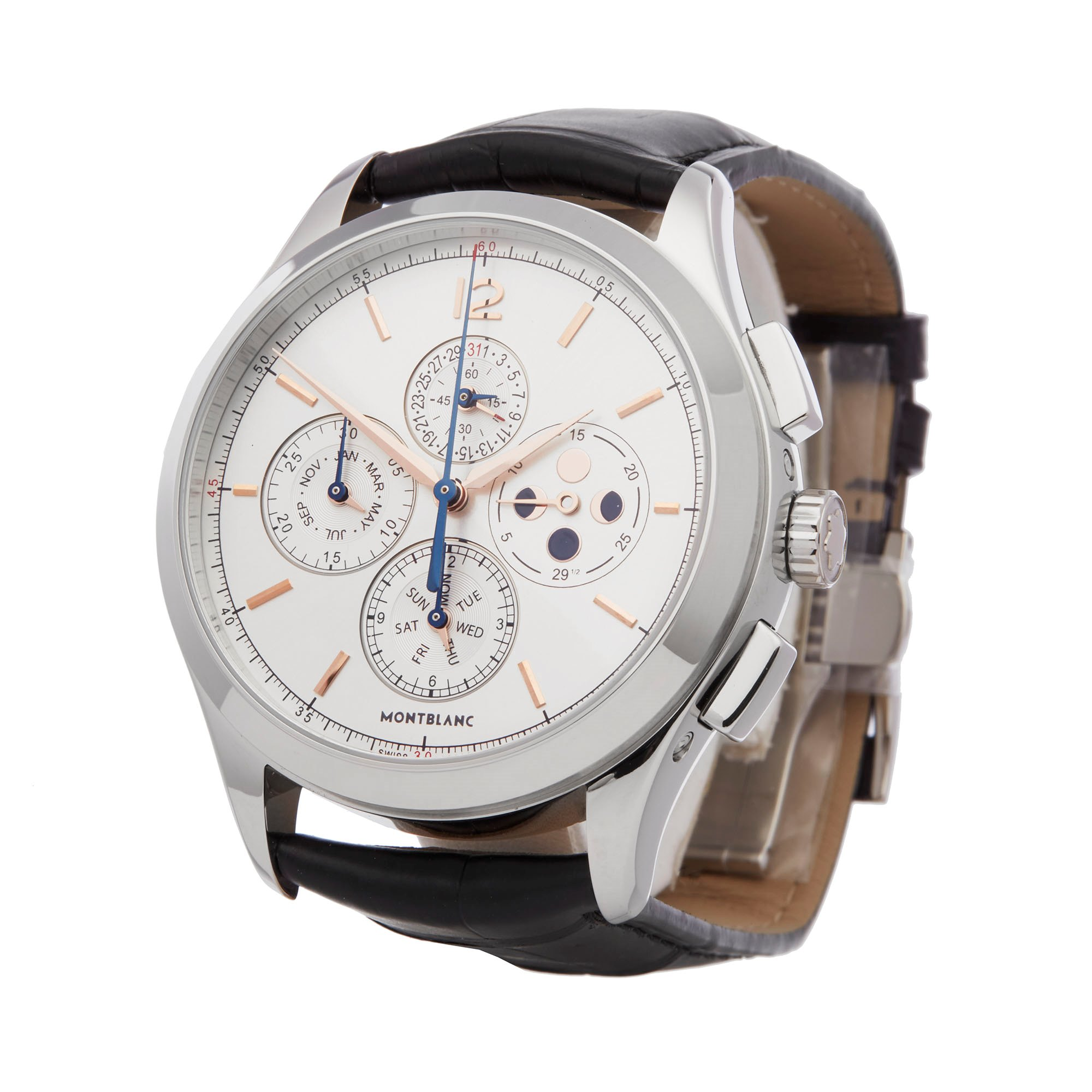 Montblanc Heritage Chonométrie Annual Calendar Chronograph Roestvrij Staal 114875