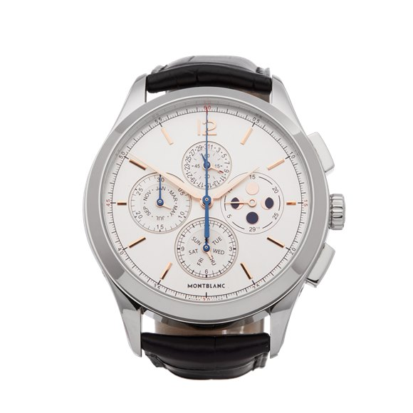 Montblanc Heritage Chonométrie Annual Calendar Chronograph Stainless Steel - 114875