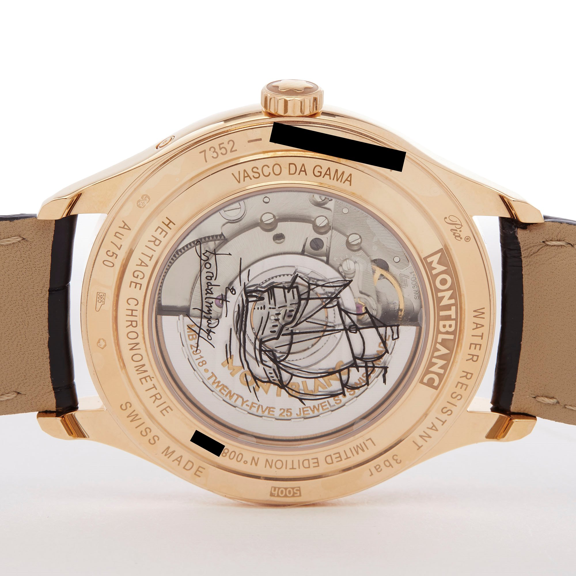 Montblanc Heritage Chonométrie Annual Calendar 18k Yellow Gold 112537