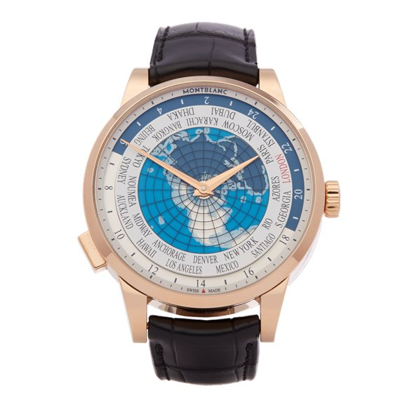 Montblanc Heritage Spirit Worldtimer 18k Yellow Gold - 112307