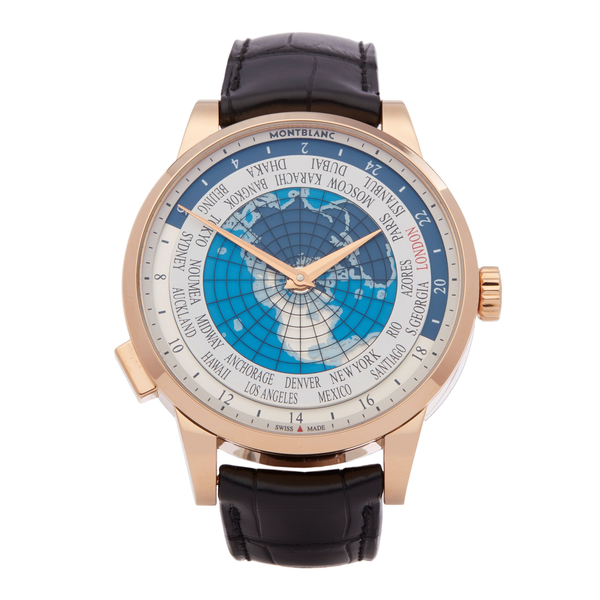 Montblanc Heritage Spirit Worldtimer Yellow Gold 112307