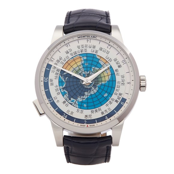 Montblanc Heritage Spirit Orbis Terrarum Asian Unicef Stainless Steel - 116534