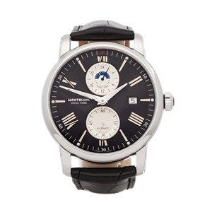 Montblanc Star Dual Time Stainless Steel - 114858