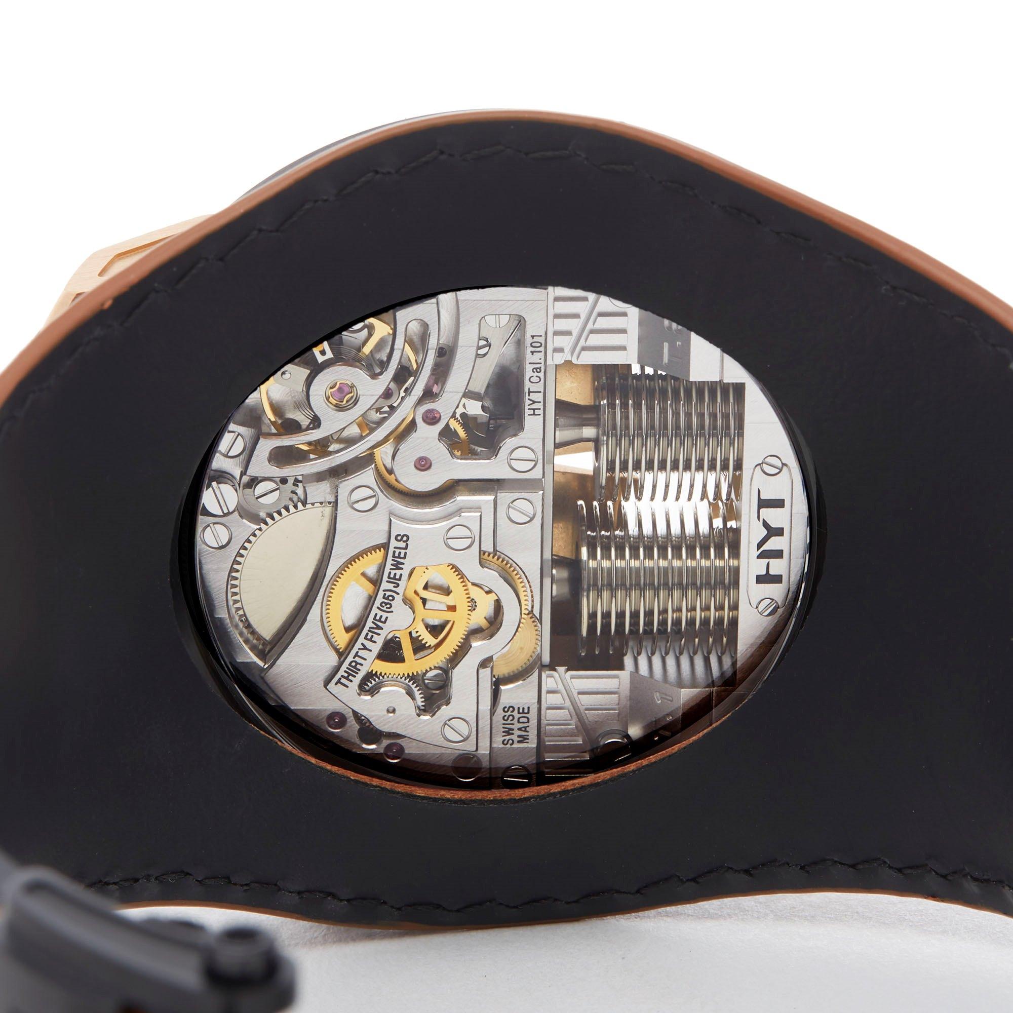 HYT H1 Skull 18k Rose Gold S48-DG-57-NF-LM