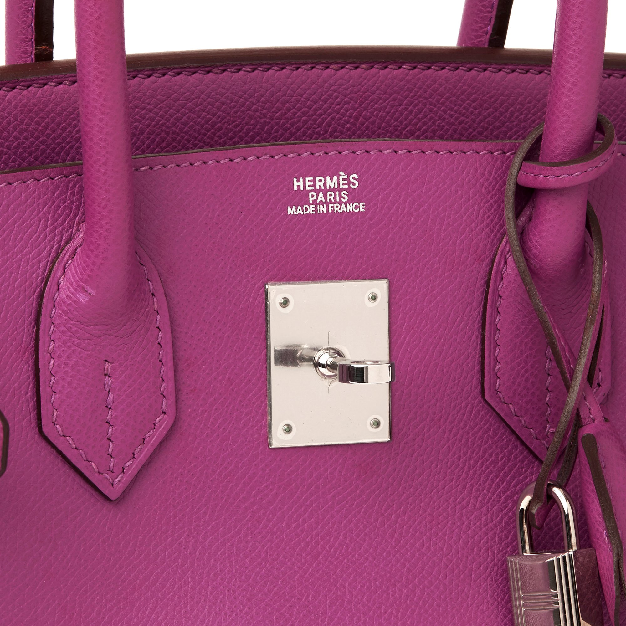 Hermès Cyclamen Epsom Leather Birkin 30cm