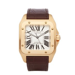 Cartier Santos 100 XL 18k Yellow Gold - 2657 or W20071Y1