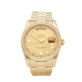 Rolex Day-Date 36 Diamond 18k Yellow Gold - 118238A