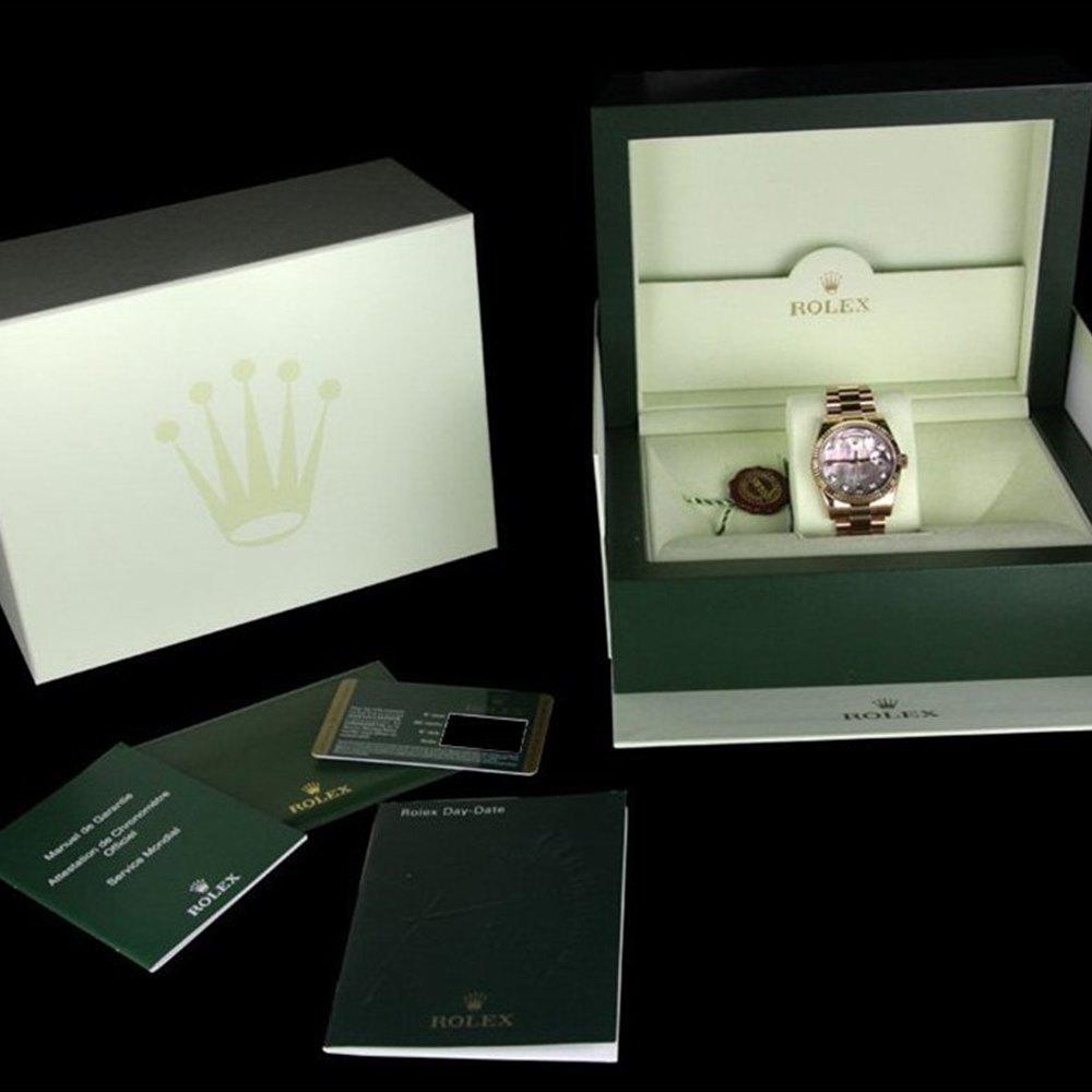 Rolex Day-Date 18K Rose Gold 118205