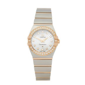 Omega Constellation Diamond Mother of Pearl Stainless Steel & Rose Gold - 111.25.26.60.55.001