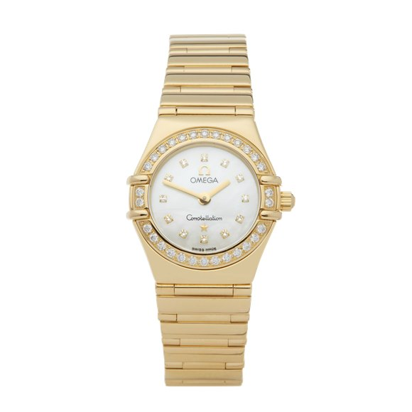 Omega Constellation Diamond Mother Of Pearl 18K Yellow Gold - 11647500