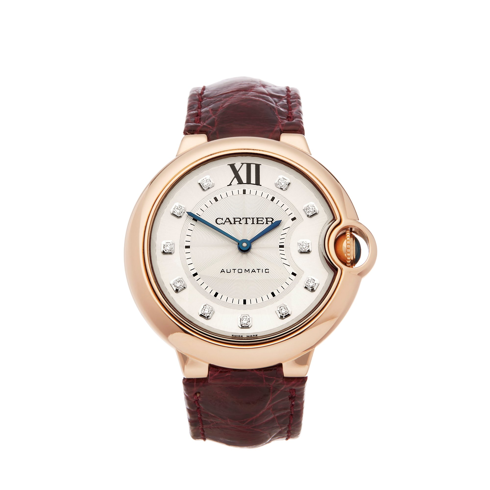 Cartier Ballon Bleu Diamond 18k Rose Goud WJBB0010 or 3003