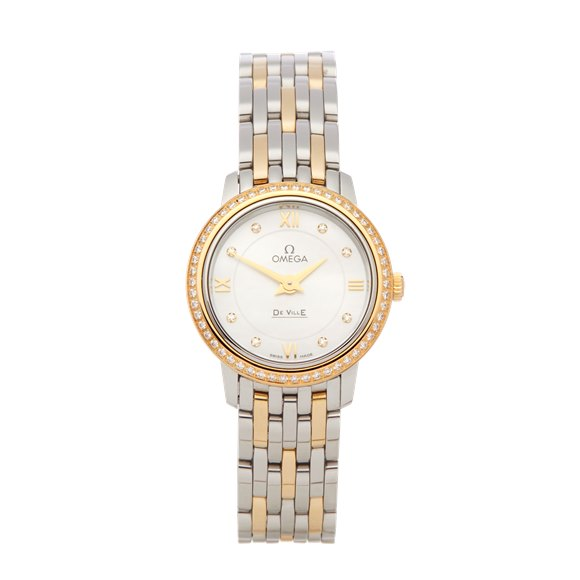 Omega De Ville Diamond Mother Of Pearl Stainless Steel & Yellow Gold - 424.25.24.60.55.001