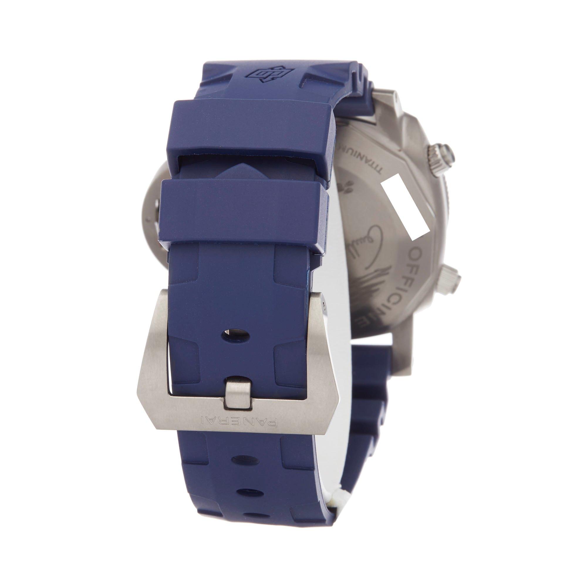 Panerai Luminor Submersible Chronograph Roestvrij Staal PAM00982