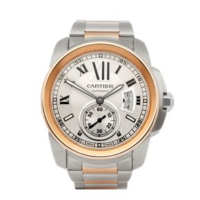 Cartier Calibre 18K Stainless Steel & Rose Gold - 3389 or WH00036