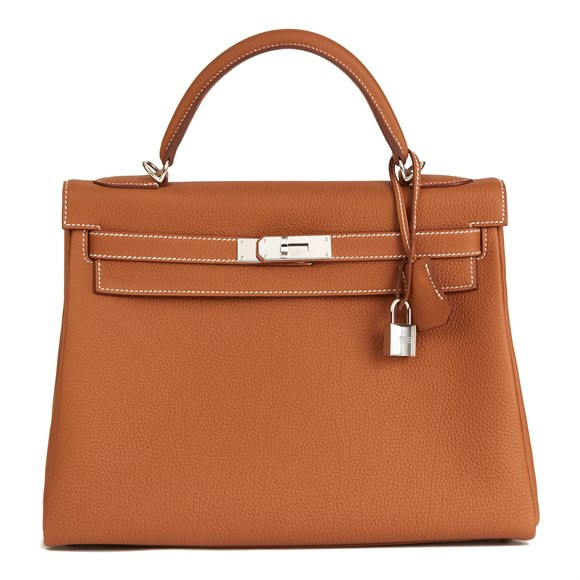 Hermès Gold Togo Leather Kelly 32cm