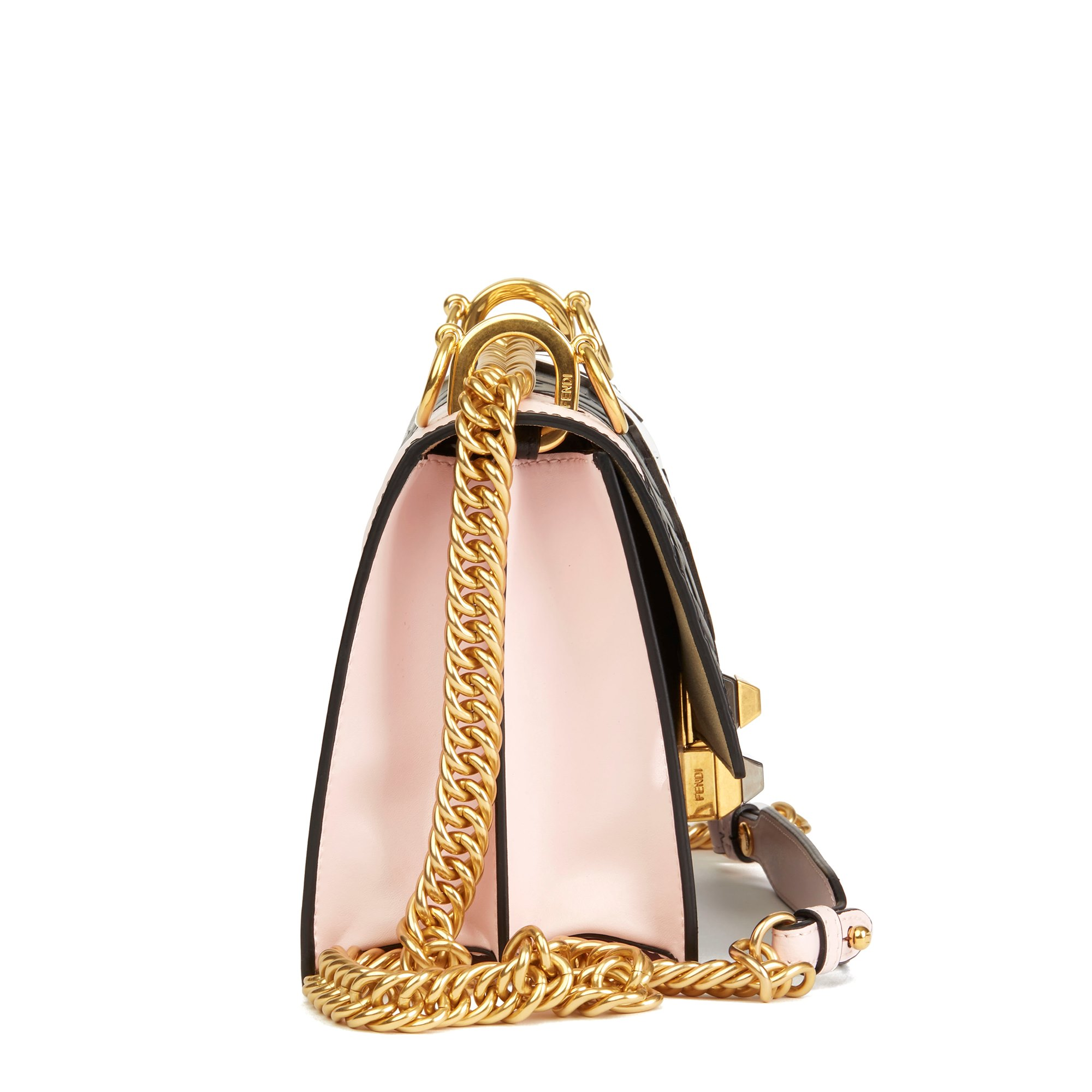 Fendi Multicolour Calfskin Leather Fendi Mania Mini Kan I