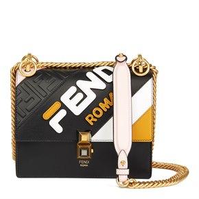 Fendi Multicolour Calfskin Leather Fendi Mania Mini Kan I