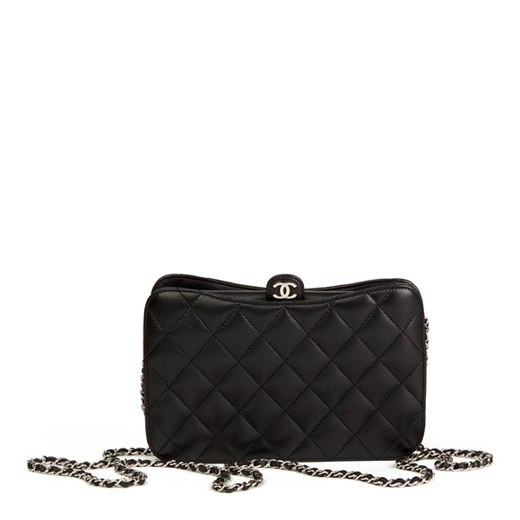Chanel Black Quilted Lambskin Pouch-on-Chain POC