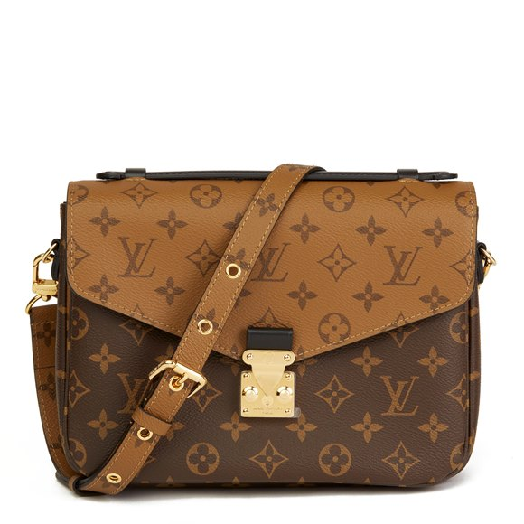 Louis Vuitton Brown Monogram Coated Canvas Reverso Pochette Metis