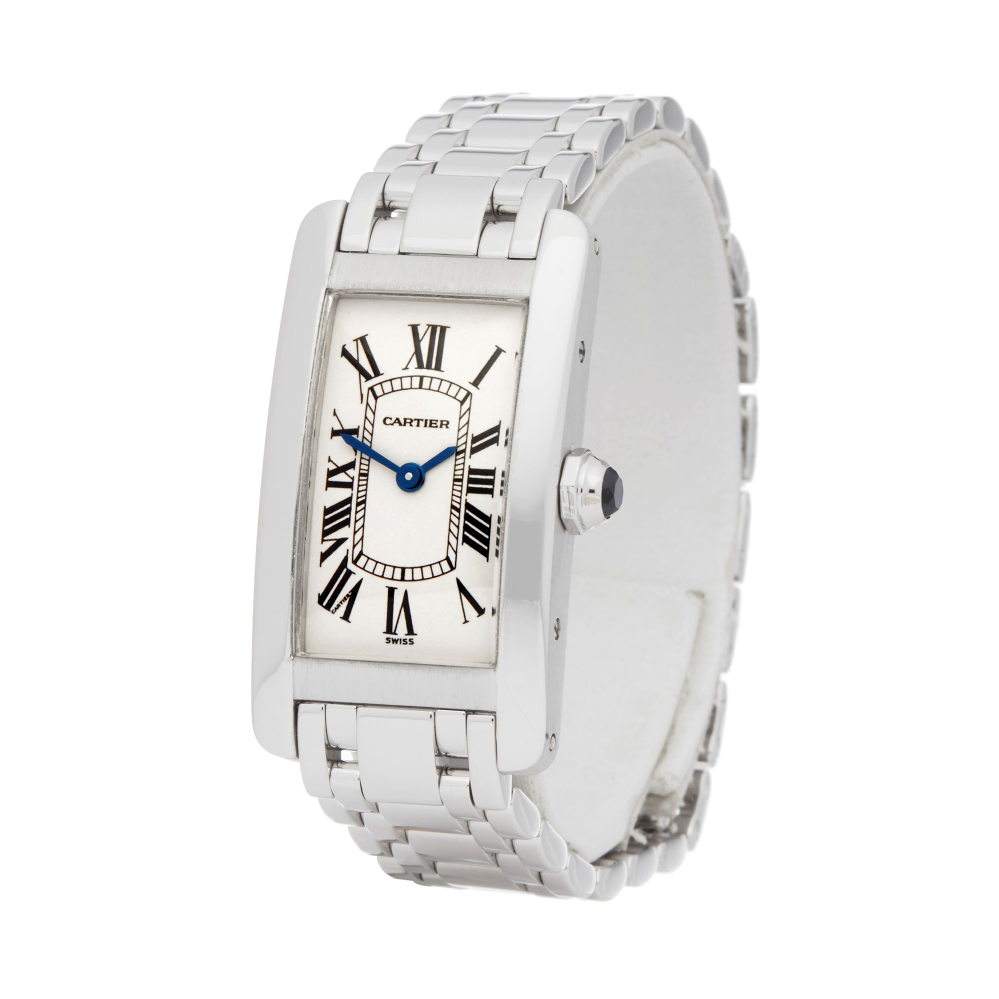 Cartier Tank Americaine White Gold W26019L1 or 1713