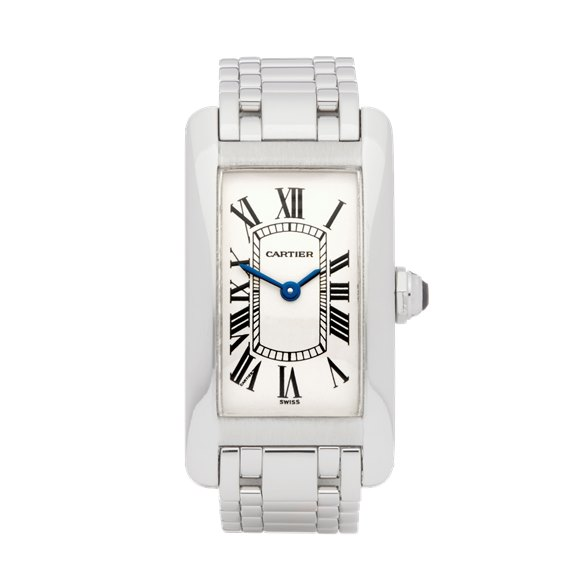 Cartier Tank Americaine White Gold - W26019L1 or 1713