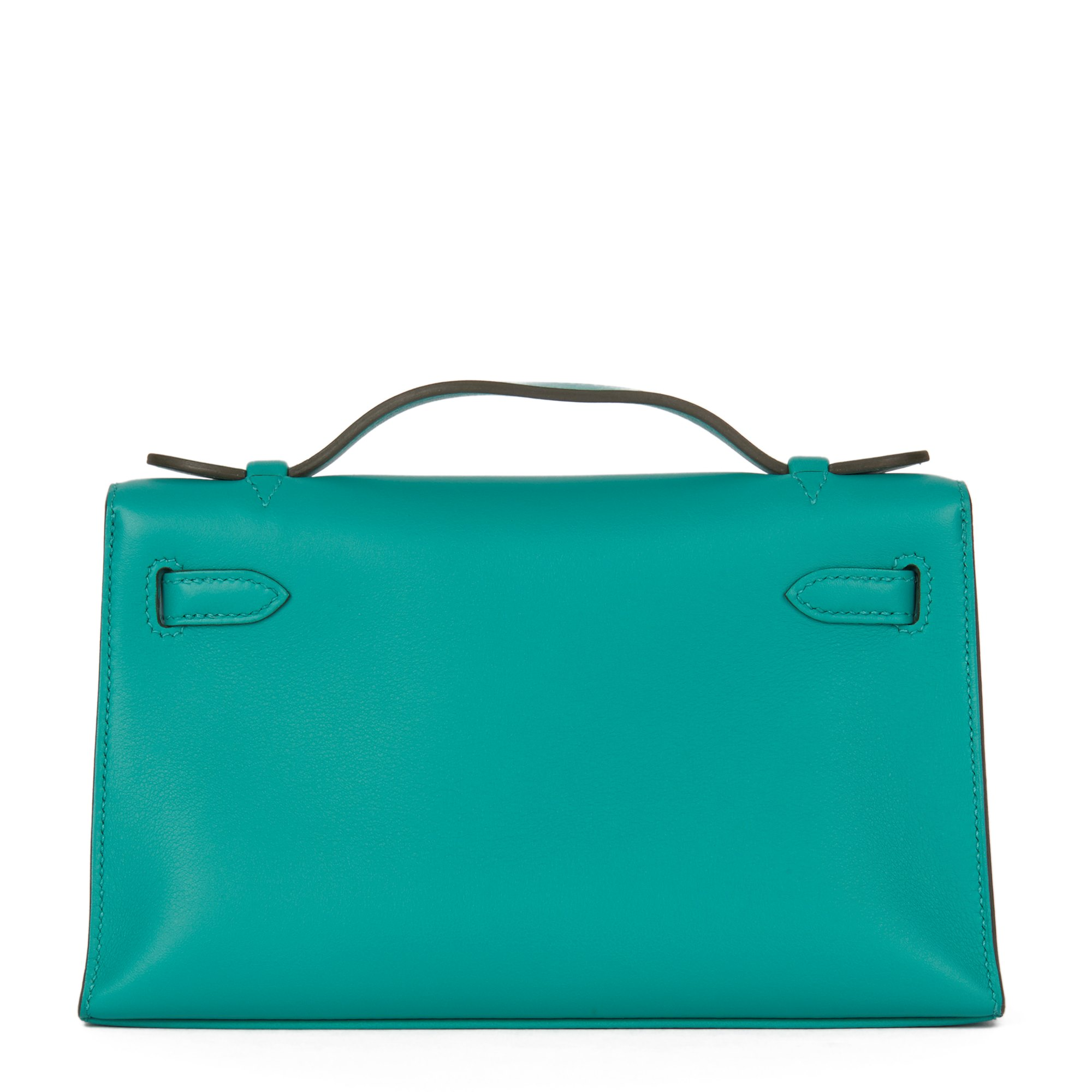 Hermès Vert Verone Swift Leather Kelly Pochette