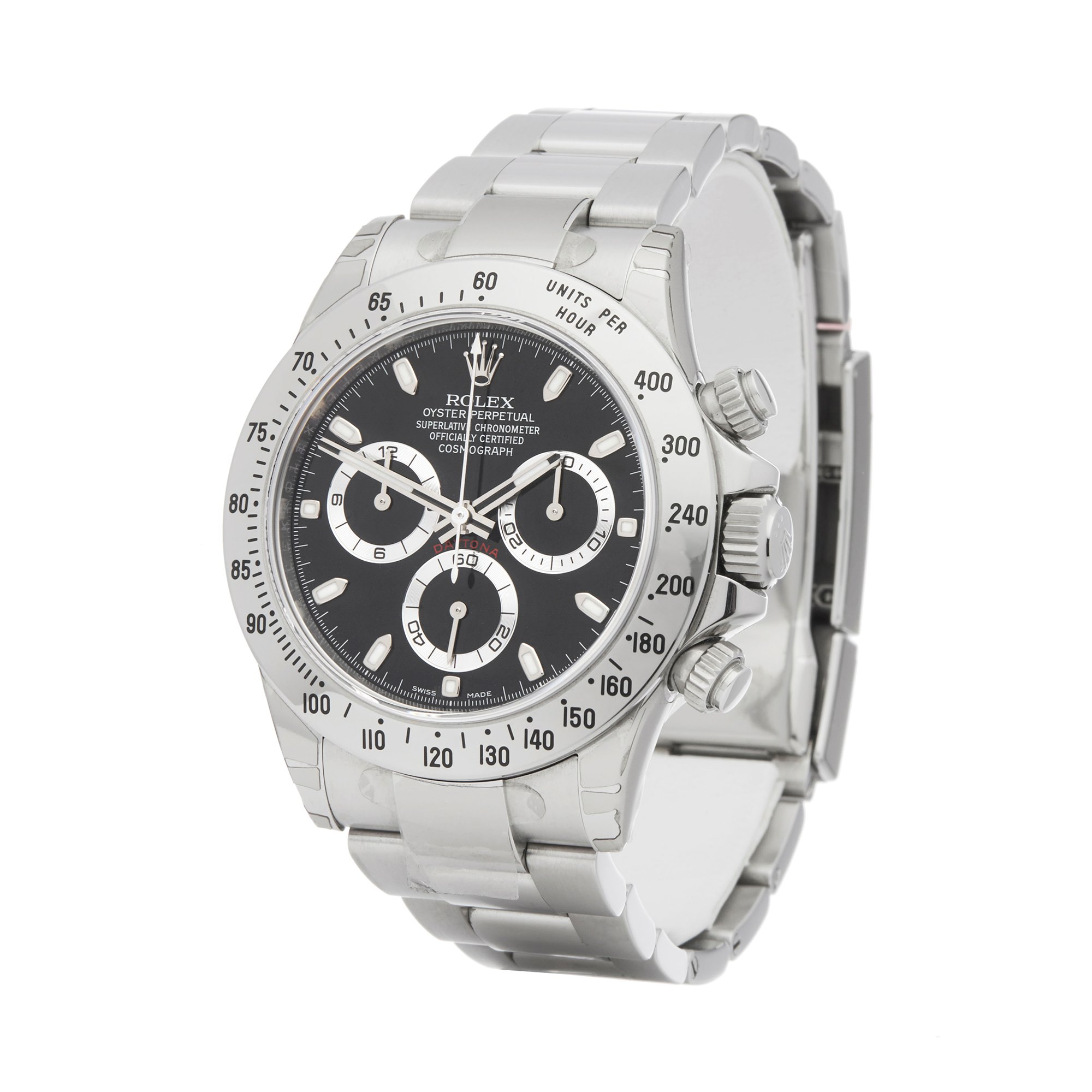 Rolex Daytona Chromalight Chronograph Stickered NOS Stainless Steel 116520