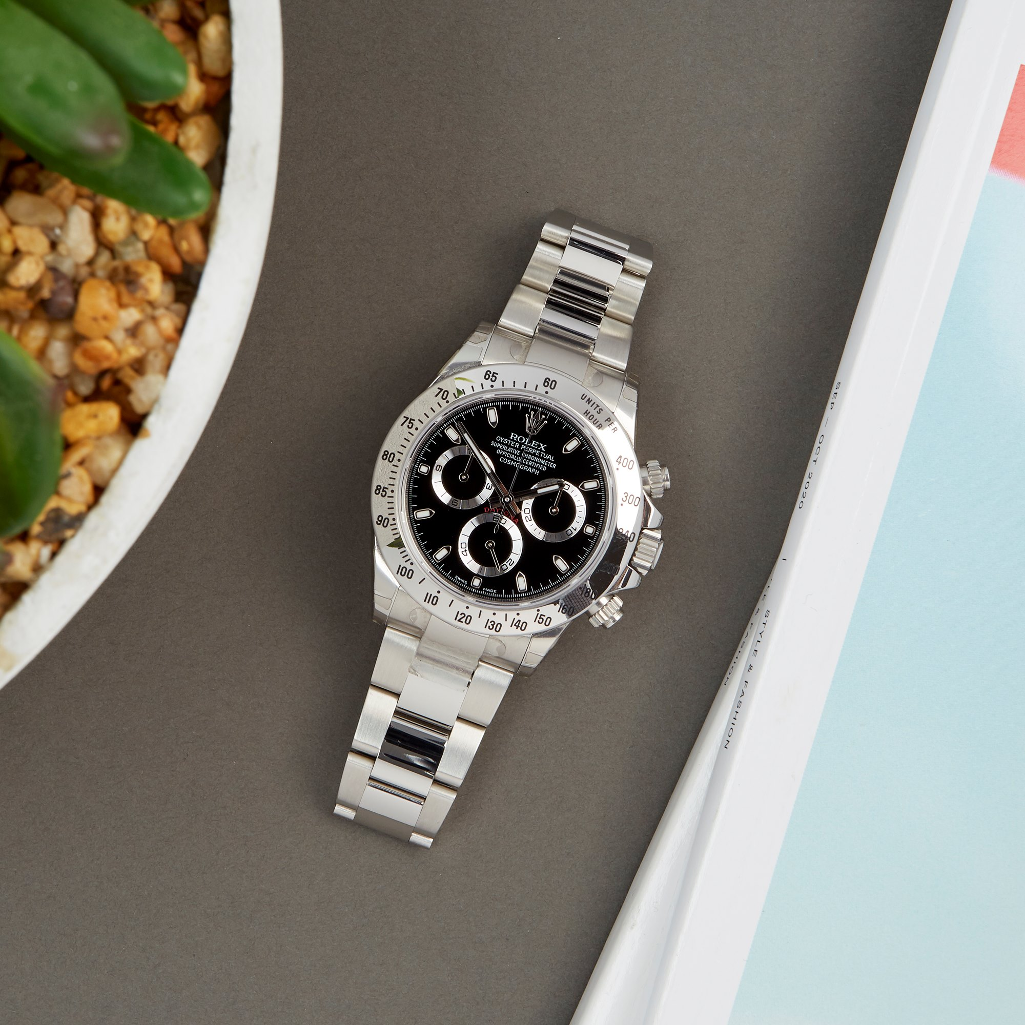 Rolex Daytona Chromalight Chronograph Stickered NOS Roestvrij Staal 116520