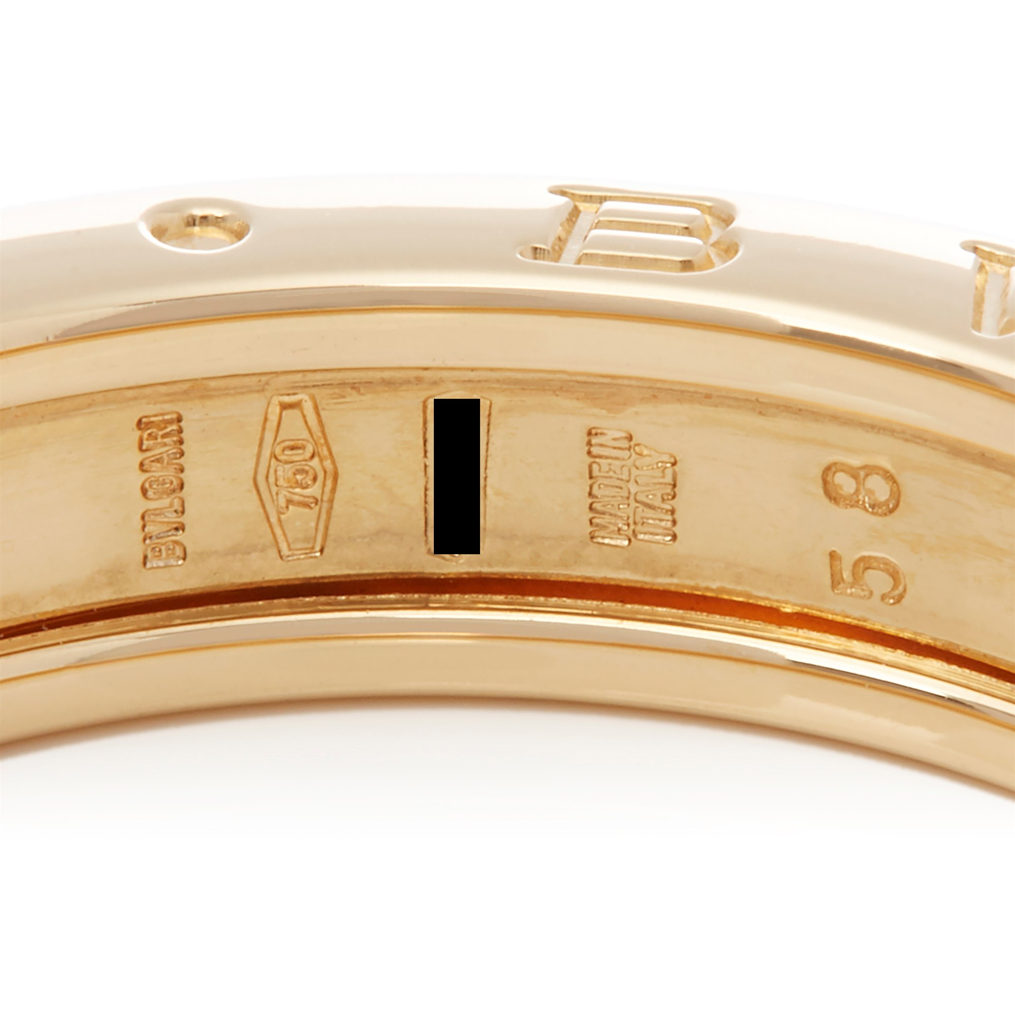 Bulgari 18k Yellow Gold B.Zero 1 Band Ring