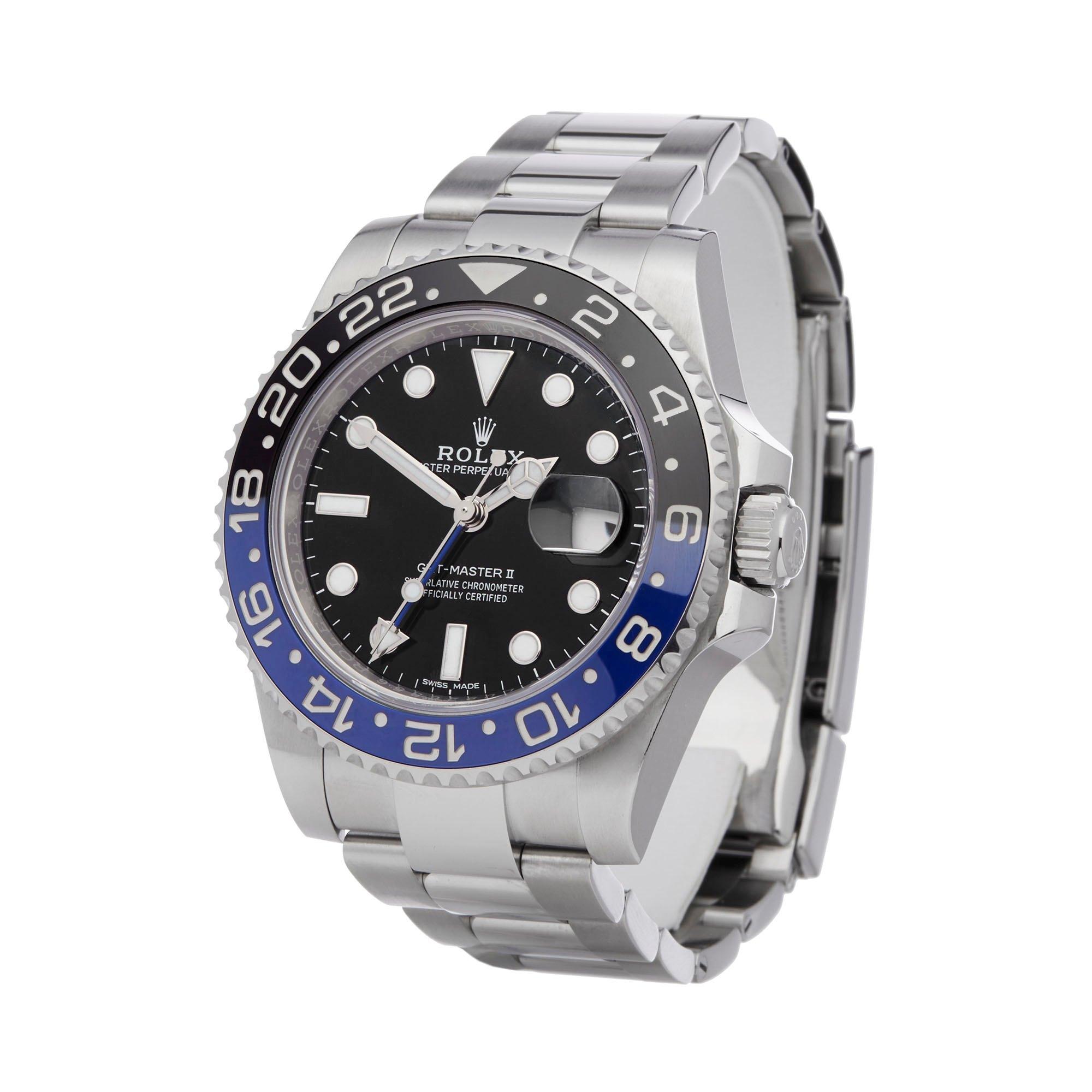 Rolex GMT-Master II Batman Stainless Steel 116710BLNR