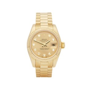 Rolex DateJust 26 Diamond 18k Yellow Gold - 179178