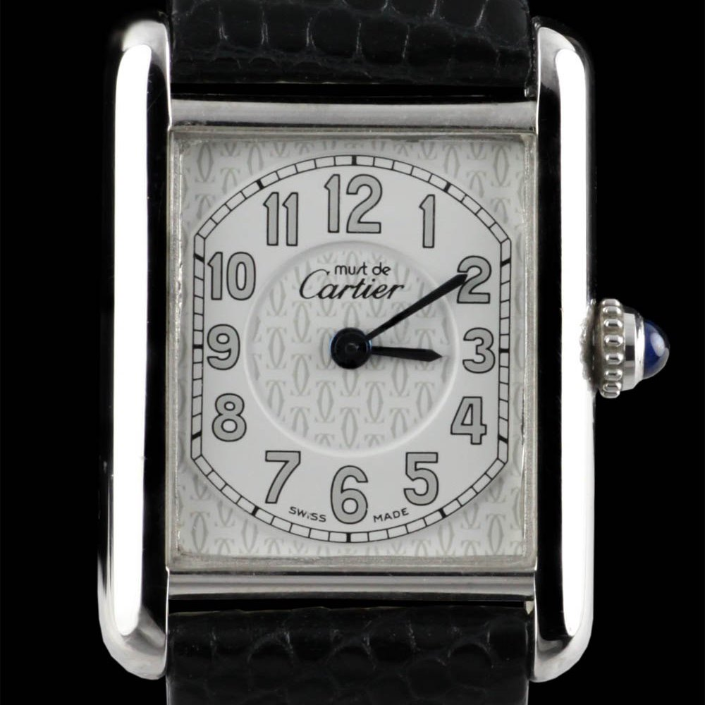 Cartier Must De Cartier 18k White Gold Plated 925 Sterling Silver